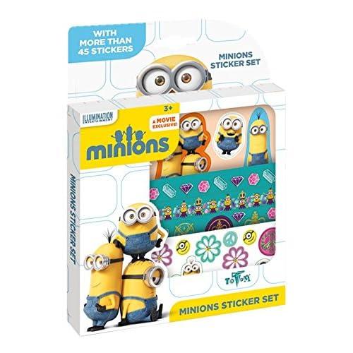 TOTUM 710030.0–Stickers Minions Boîte de paillettes 3D aufkleberboge