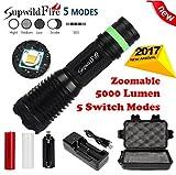 VIASA 5000Lumens Shadowhawk X800 Tactical Flashlight T6 LED Military Torch kit Flashlight Set
