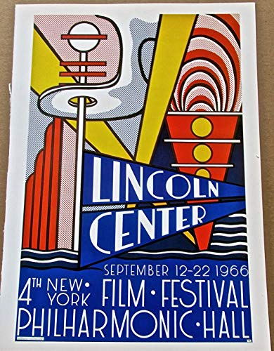 Roy Lichtenstein Lithograph - Roy Lichtenstein Poster Reprint for The Fourth Annual Film Festival 16 x11 Offset Lithograph