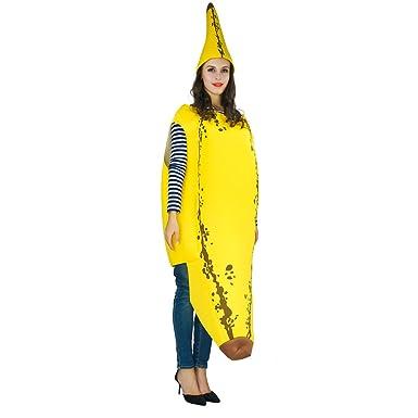 Amazon Com Flatwhite Adult S Banana Costumes Onesize Clothing