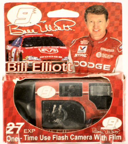 2000 – E-Top-Pics Inc – Bill Elliott #9 – Dodge – One Time Use Flash Camera w/ Film – Konica 400 Film – 27 Exposures – New – Limited Edition – Collectible – Rare