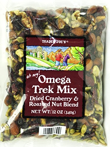 Trader Joe's Omega Trek Mix with Dried Cranberries & Roasted Nut Blend (12 Oz)