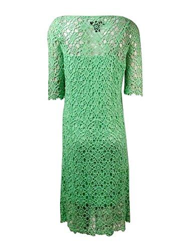 Lauren Ralph Lauren Womens Crochet Elbow Sleeves Casual Dress Green M by RALPH LAUREN (Image #2)