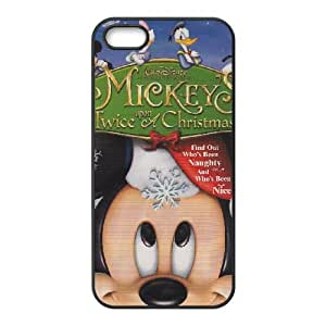 Mickey's Magical Christmas Snowed in at the House of Mouse iPhone 5 5s Cell Phone Case Black Ueoas