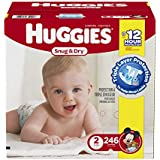 Huggies Economy Plus Pack Snug and Dry Diapers, Size 2, 246 Count