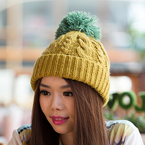 Invierno Sombrero Sombrero Lana del Punto Punto YELLOW Yellow Moda Damas para del Maozi a Flanger otoño de Coreana Bromista Sombrero Coreana de Versión qTaFavwI