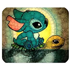 Mystic Zone Personalized Lilo and Stitch Rectangle Mouse Pad (Black) by ruishername