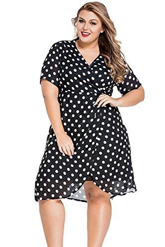 GloriaSarah-Womens-Classic-Polka-Dot-Curvy-Chiffon-Dress