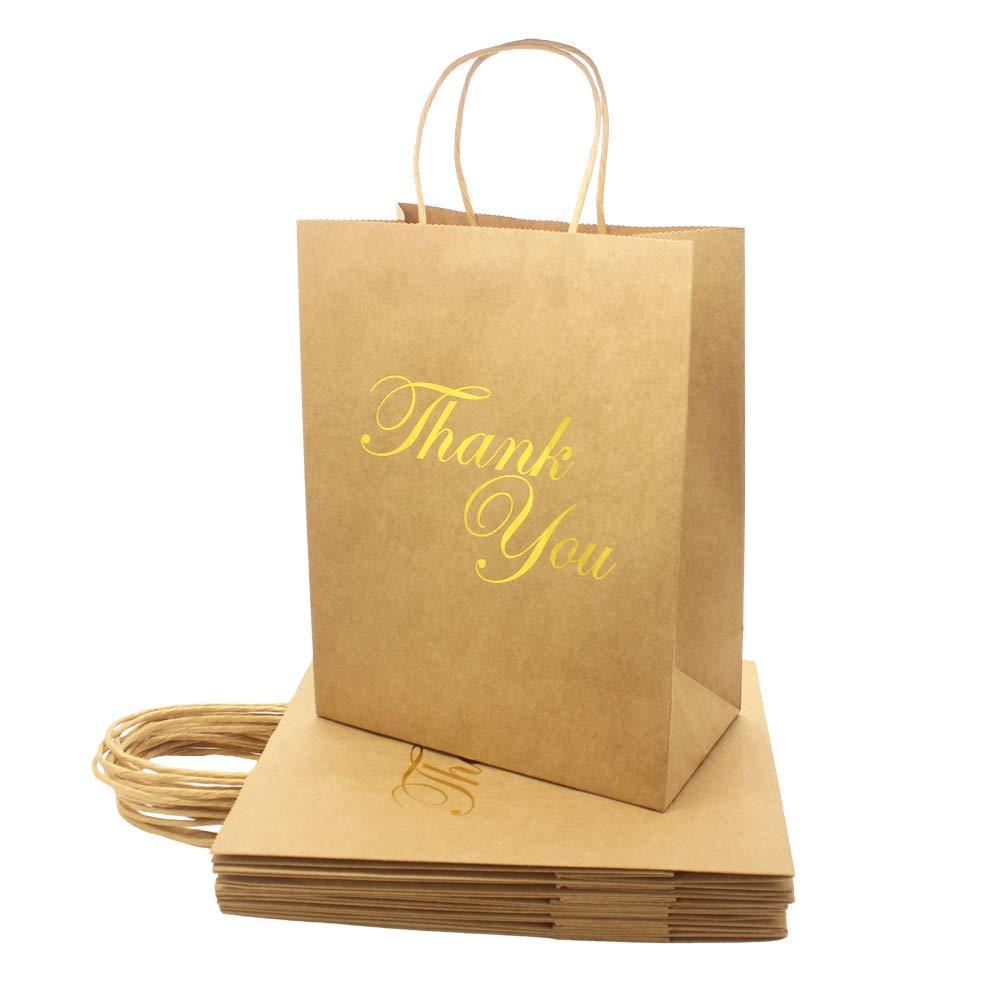 Amazon.com: Paquete de 10 bolsas de papel Kraft de tamaño ...