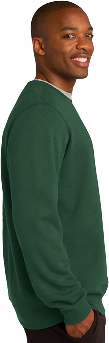 Graphite Heather Small Sport-Tek Mens Crewneck Sweatshirt