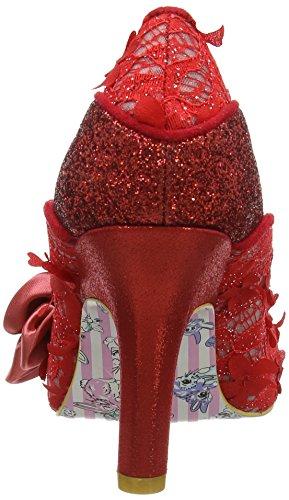 Irregular Choice Peach Melba - Tacones Mujer Rojo (Red)