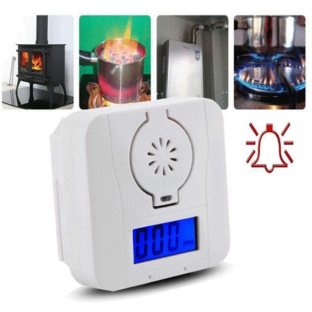 Bosixty Detector de Sensor de Gas de CO Detectores de Mon/óxido de Carbono y Detectores de Humo Detecci/ón Combinada de Envenenamiento Gas Pantalla LCD de Alta Sensibilidad