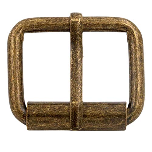 BIKICOCO Roller Buckle, 1'' x 4/5'' Heel Rolling Bar Buckles for Bags Leather Webbing Straps, Bronze - Pack of 20