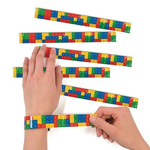 Color Brick Party Slap Bracelets - 12 ct