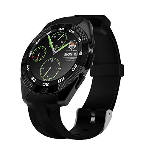 Kivors G5 Reloj Inteligente Bluetooth 4.0 con Monitor de Frecuencia Cardíaca Fitness Tracker Sincronización con Smartphone Llamada SMS Recordatorio ...