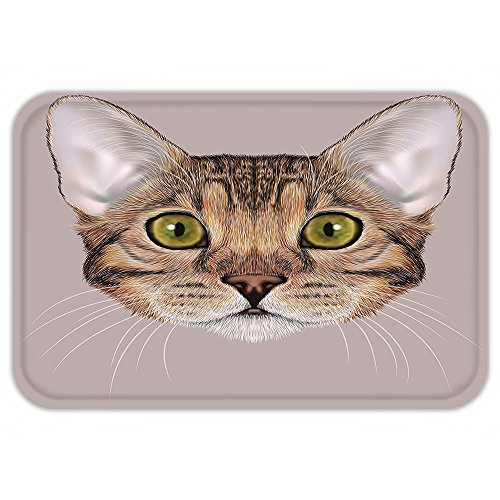 Custom Mascot Costumes Design (Kisscase Custom Door MatCat Vintage Cute Bengal Kitty Portrait in Soft ToneFluffy Icon Mascot Cute Design Caramel Dried Rose)