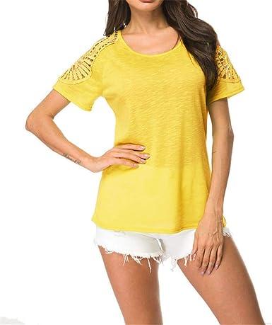 Verano Elegantes Casual Tallas Grandes Deporte Algodon Camisetas ...