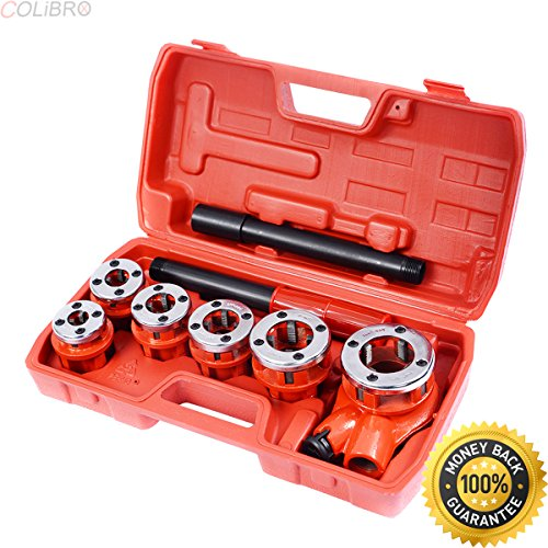 COLIBROX--New Ratchet Ratcheting Pipe Threader Kit Set w/ 6 Dies and Storage Case. artbin magnetic die storage case and accessory sheets. die storage box. stamp and storage magnetic cards.