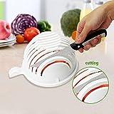 LH New Salad Cutter Bowl - Make your salad faster, 60 Second Salad Maker Salad Cutter Salad Chopper Bowl Salad Spinner-Extra Big Bowl