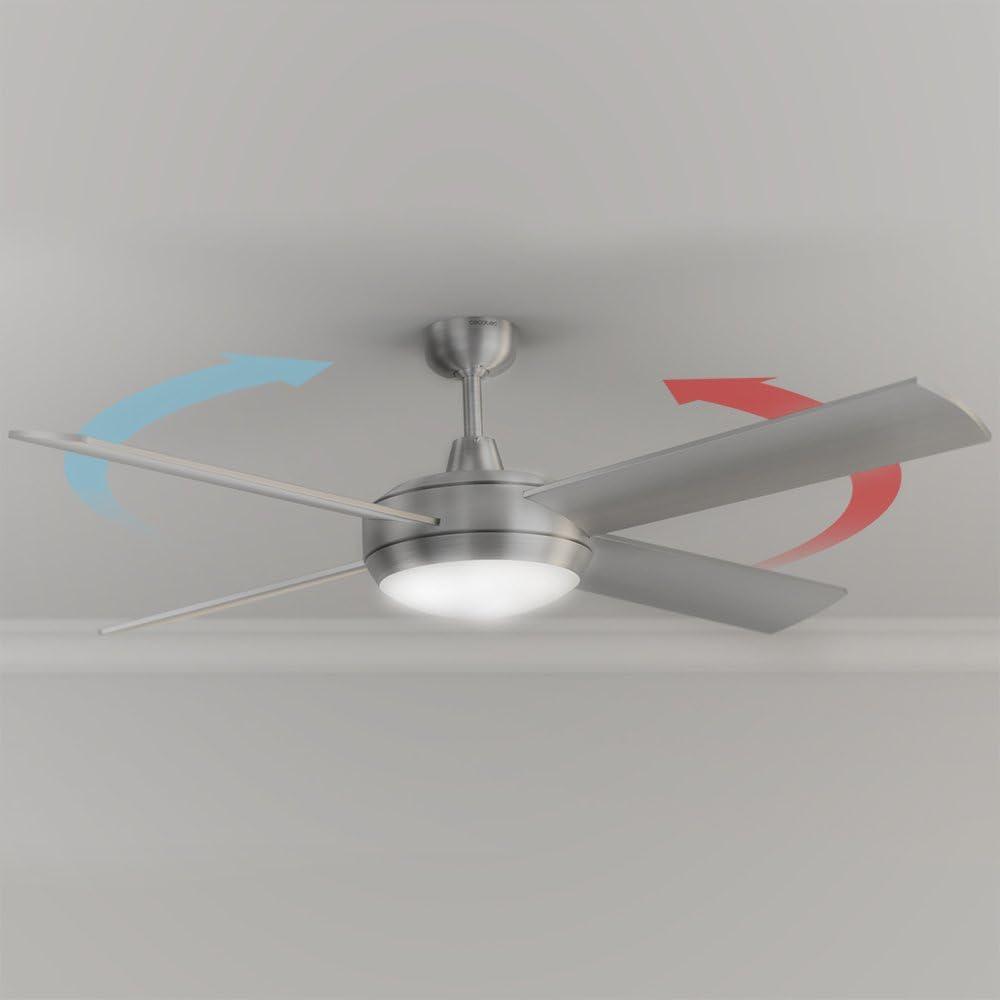 Cecotec Ventilador de Techo EnergySilence Aero 570. 132 cm de Di‡metro, 4 Aspas, 3 Velocidades, Funci—n Invierno, 60 W: Amazon.es: Hogar