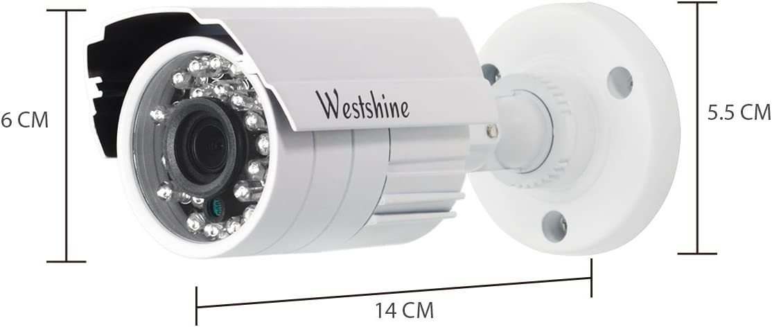 No HDD Home Video Security CCTV System,Supports coaxial control//UTC Westshine 8CH 5MP 5 IN1 Camera DVR Kit,8Ch 5MP AHD//TVI//CVI//Analog DVR+ 8 Pack 5MP AHD Bullet Cameras