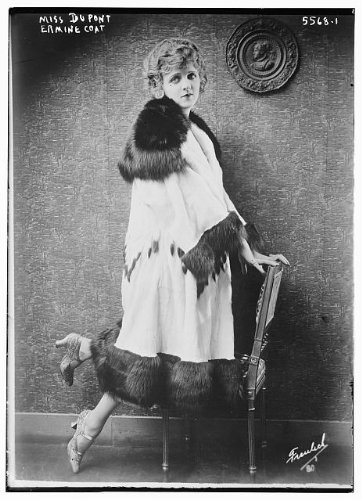 HistoricalFindings Photo: Miss Dupont,Ermine trimmed coat,fur clothing,seats,chairs,Bain ()