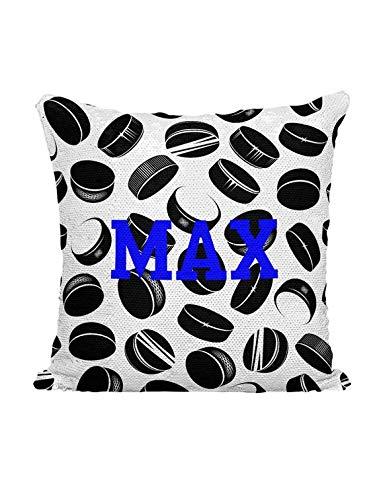 (Moira Personalized Hockey Pucks Custom Sequin Mermaid Flip Pillow)