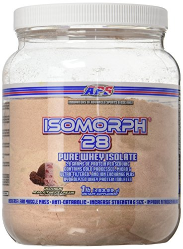 Hi Tech Isomorph 28 Whey Powder, Neapolitan Ice Cream, 1 Pound (Aps Whey)