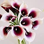 Meide-Group-USA-14-Real-Touch-Latex-Picasso-Calla-Lily-Bunch-Artificial-Spring-Flowers-for-Home-Decor-Wedding-Bouquets-and-centerpieces-18-PCS-Mauve-PurpleWhite