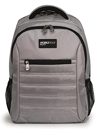 Komen Laptop Bag - Mobile Edge Silver SmartPack 16 Inch Laptop Backpack with Separate Padded Tablet Pocket Lightweight Design for Men, Women, Students MEBPSP2