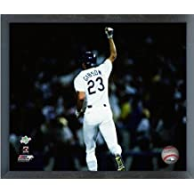 """Kirk Gibson Los Angeles Dodgers MLB World Series Action Photo (Size: 12"""" x 15"""") Framed"""
