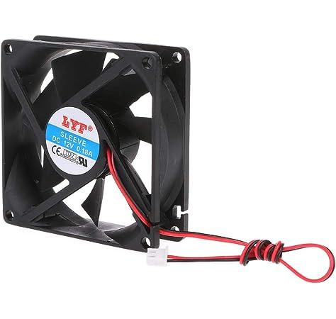 2 Pin PC CPU Brushless Cooling Fan 8010 DC 24V 80/×80/×10mm Cooler Heatsink Fast Heat Dissipation Case by FLYCHENGi