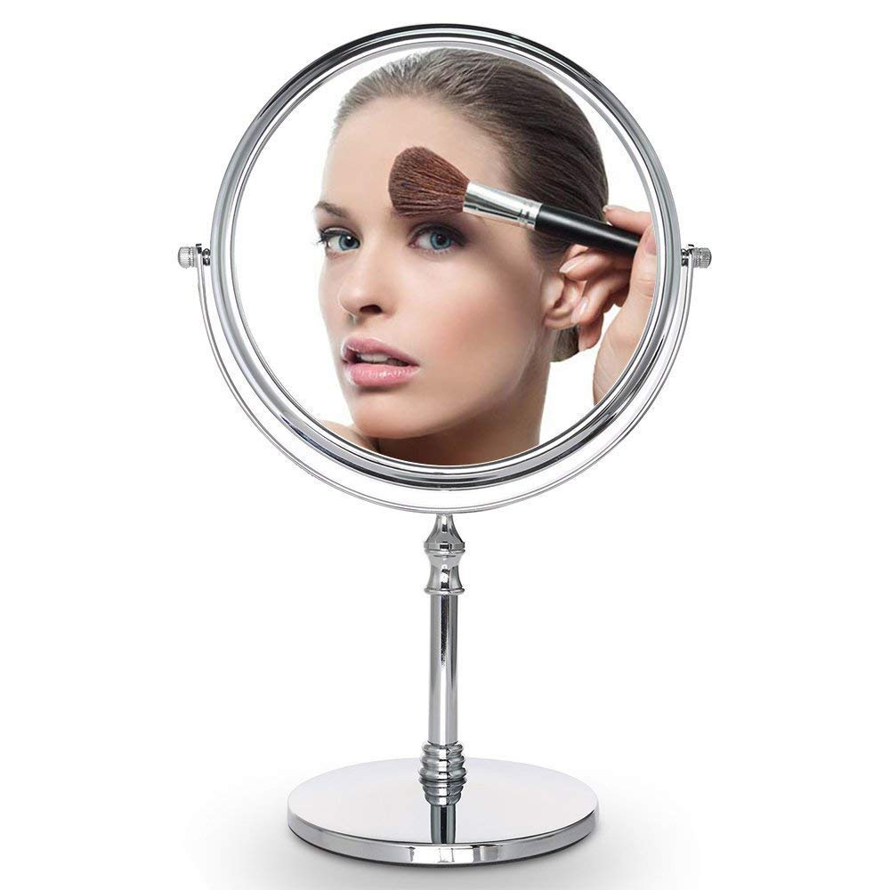 Cosprof 8-Inch Diameter 10X Magnifying Two Sided Vanity Makeup Mirror - Best for Bathroom or Bedroom Table Top