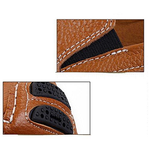 DHFUD en Simple en D'exécution Cours Occasionnel Fainéant Cuir Sports Adulte Conduite Chaussures Hommes Blue EIqw6rI