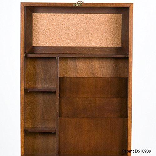 037732092904 - Fold-Out Convertible Desk - Walnut carousel main 6