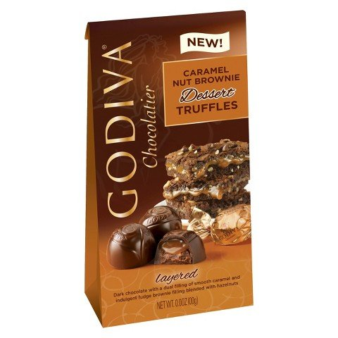 Godiva Caramel Nut Brownie Dessert Truffles, 4.4 - Chocolate Truffle Dessert