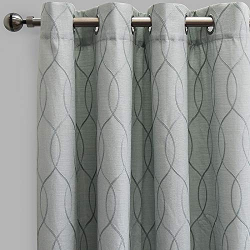 Rodeo Home Lily Curtain Panel 54x96 inchs, Grommet, Lining Included, Set of 2 (Spa, 54x96)