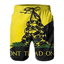 Vvw4 Dont Tread On Me Lightweight Surf Board Beach Shorts Surfing Running Swimming Watershorts With Poket For Men