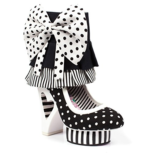 Irregular Stripes Choice (Irregular Choice Rosie Pumps With Removable Cuff Convertible Bootie (37))