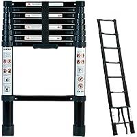 EQUAL Telescoping Ladder Aluminum Telescopic Extension Multi Purpose Ladder - Black