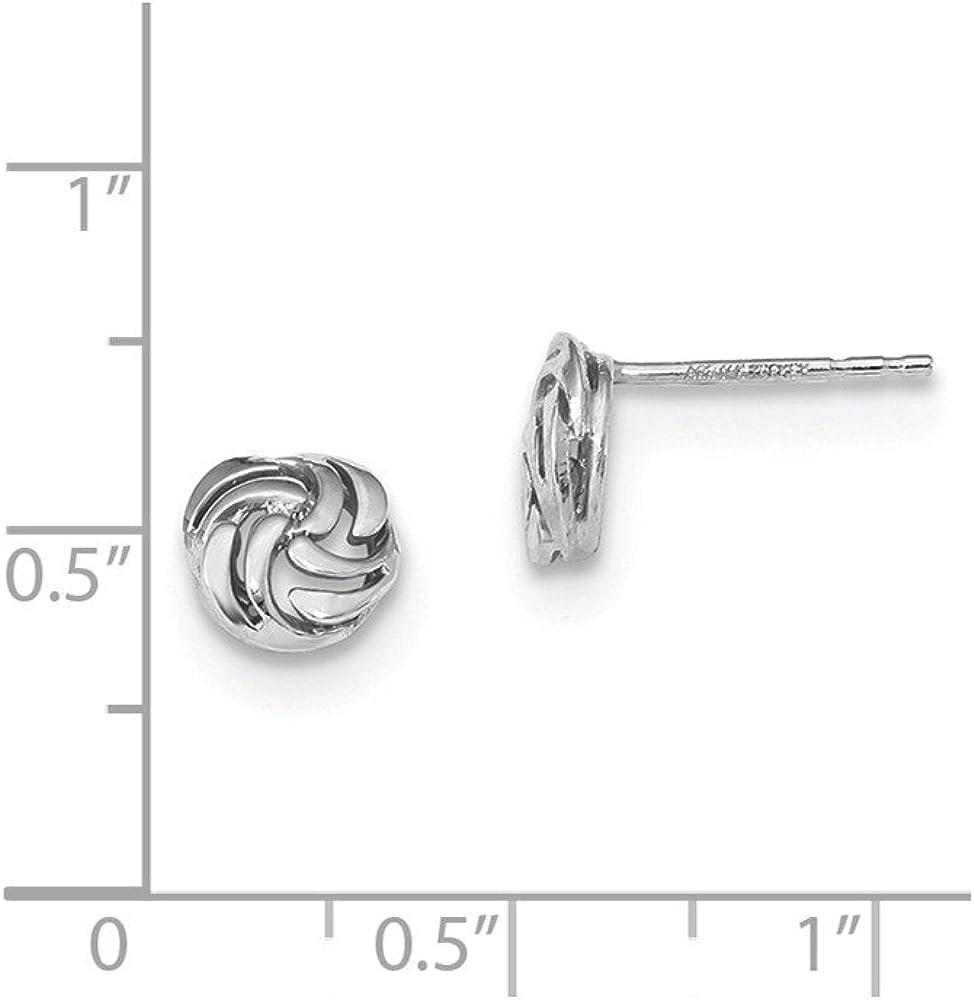 14ktw Polished Open Swirl Post Earrings