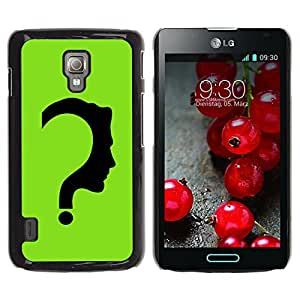 Planetar® ( The Riddler ) LG Optimus L7 II P710 / L7X P714 Fundas Cover Cubre Hard Case Cover