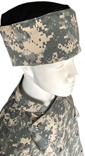 CHEFSKIN Camouflage Chef Coat Jacket Camo in ACU Digital Soft Twill + Hat (XL-54 in.Chest)