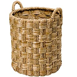 KOUBOO Round Braided Seagrass Basket, Large