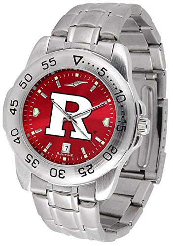 (SunTime Rutgers Scarlet Knights Sport Steel Band Ano-Chrome Men's Watch)
