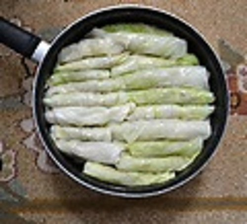 Leaves Stuffed Cabbage (Stuffed Cabbage Leaves(Syrian/Lebanese)