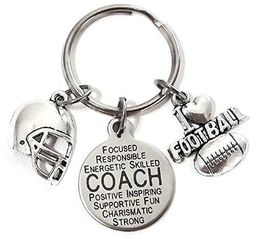 Football Keychain Helmet (Football Coach keychain, Coach charm keychain, Football keychain, Football charm keychain, I love Football keychain, Football helmet keychain, football gift, Football key ring, Football Coach key ring)
