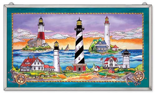 (Stained Glass East Coast Lighthouse 23