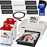 "Canon Selphy CP1200 Wireless Color Photo Printer (White) + 2 Canon KP-108IN Color Ink Paper Sets (216, 4x6"" inch prints) + USB Printer Cable + HeroFiber Ultra Gentle Cleaning Cloth"