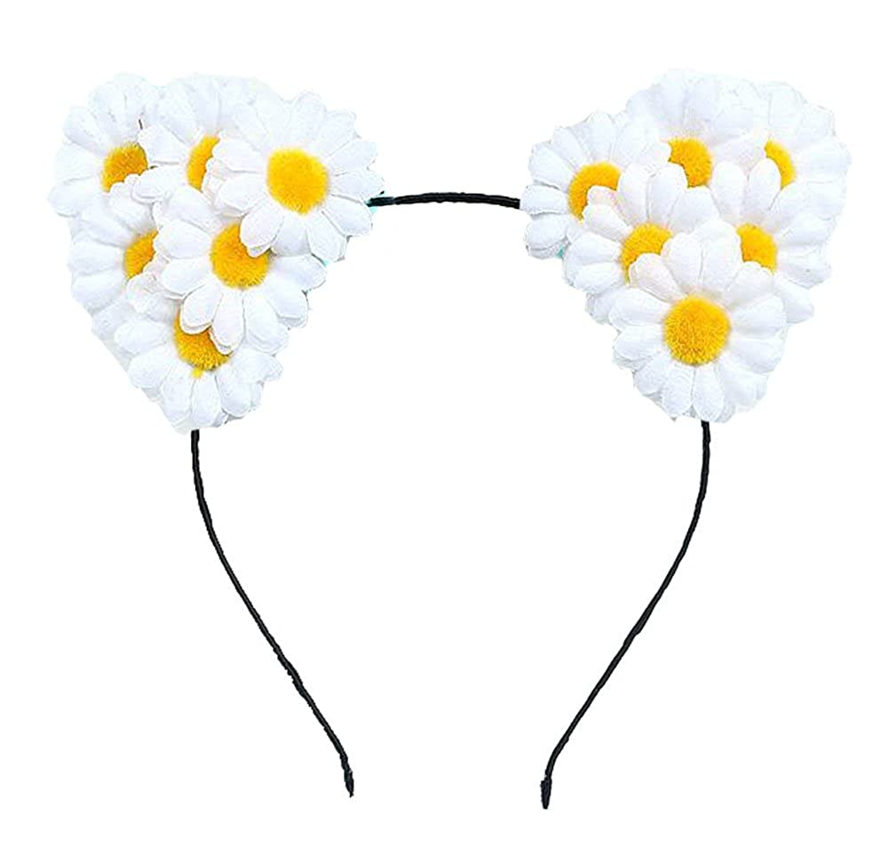 Amazon Floral Fall Festival Daisy Floral Rave Cat Ears Girls